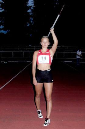 Sophie Wagner überzeugte auch als Siegerin im Speerwurf der WU20. Foto: nh