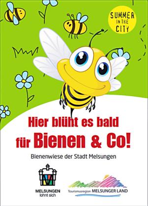 Melsungens Werbung für die Aussaat einer Bienenwiese. Grafik: nh