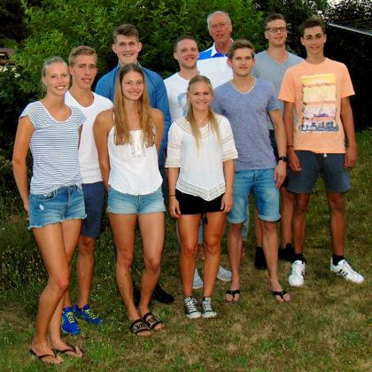 Abschied von den Sportfreunden im Leichtathletik-Team. Foto: nh