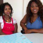 Weinshet und Nyadzai aus Äthiopien möchten in den Pflegeberuf. Einen Orientierungskurs haben sie in Treysa absolviert. Foto: Holger Rothenmayer | nh