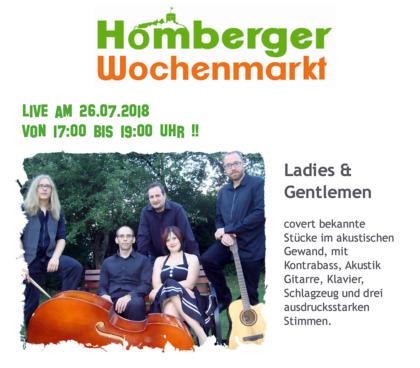 Ladies & Gentlemen besuchen den Homberger Wochenmarkt. Foto: nh