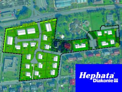 """Vorentwurf: So könnte das neue Wohnquartier """"Am Alten Feld"""" aussehen. Der Hephata-Vorstand beabsichtigt damit eine Entwicklung des Stammgeländes """"von außen nach innen"""". Schon im nächsten Jahr könnten die insgesamt 23 Bauplätze für Ein- und Mehrfamilienhäuser erschlossen werden. Skizze: nh"""
