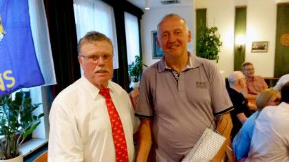 Heinz Marx und Rainer Hartmann (re.). Foto: nh
