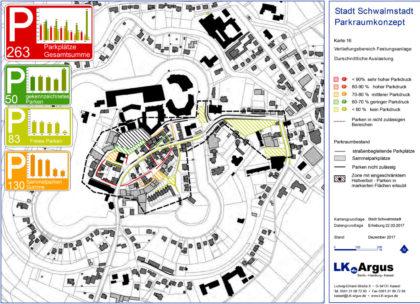 Das Kartenmaterial zum Parkraumkonzept veranschaulicht die Vorschläge der Verkersplaner. Symbolbild: LK Argus