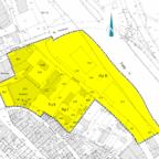 """Übersichtsplan zur 1. Änderung und Erweiterung des Bebauungsplanes Nr. 80 """"Sandstraße"""". Skizze: nh"""