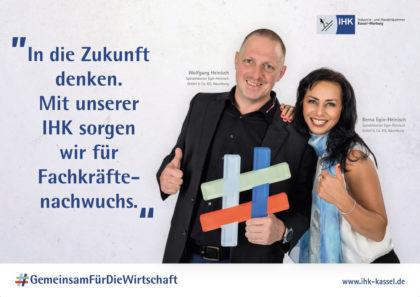 Mit Testimonials arbeitet die IHK Kassel-Marburg am Image. Grafik: ihk