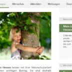 Ich schütze, was ich liebe! – Auf ihrer Homepage lädt die Naturschutzkampagne Hessen zum Mitmachen ein. Screenshot: nh