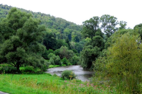 Wanderweg entlang der Fulda. Foto: nh