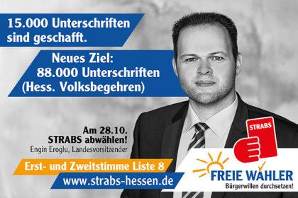 Zentrales Wahlkampfthema: Die FREIEN WÄHLER wollen der STRABS die Rote Karte zeigen. Fotomontage: nh