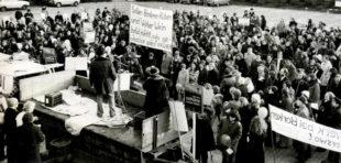 Demonstration gegen das AKW Borken im Jahr 1977. Archivbild: Thomas Schattner