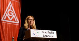 Irene Schulz vom geschäftsführenden IGM-Vorstand. Foto: Martin Sehmisch
