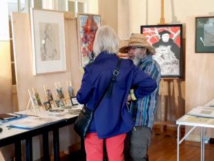 Aus erster Hand können die Ausstellungsbesucher interessantes über die Kunstwerke erfahren. Foto: nh