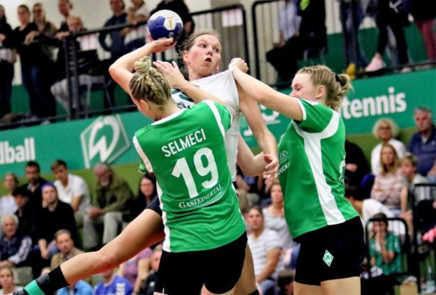 Diana Sabljak wirft und trifft aus allen Lagen, in Bremen 17 mal für Kirchhof. Foto: Detlev Keller | SG 09 Kirchhof