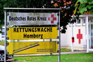DRK, Rettungswache Homberg, Rotes Kreuz. Foto: Schmidtkunz