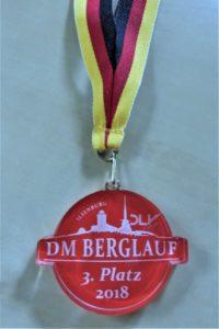 Die Bronzemedaille. Foto: nh