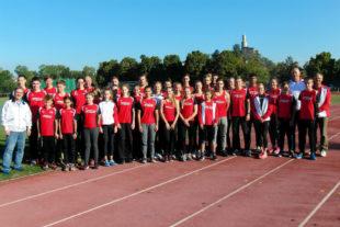 Die Leichtathleten der MT Melsungen, die beim 31. Kreissparkassen-Cup mit vier Teamsiegen Geschichte schrieben. Foto: nh