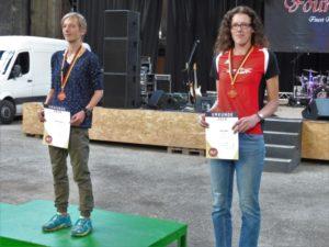 Die deutsche Berglaufmeisterin Nadine Noack (Wernigerode) und Luise Zieba. Foto: nh