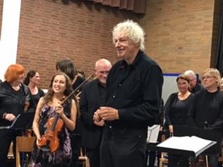 Dirigent Reiner Eder mit Siri Eder. Foto: nh