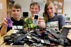 Von links: Daniel Hirseland (15), Julian Tanz (14) und Sebastian Weber (15). Foto: Hephata Diakonie
