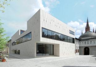 Hessischer Landtag, Plenargebäude. Foto: Hermann Heibel | Hessischer Landtag