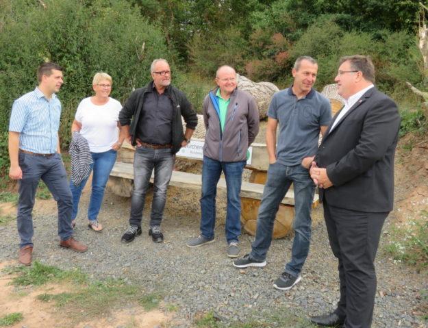 Matthias Wettlaufer, Veronika Backes, Jürgen Bernhardt, Günter Kniese, Reiner Keim, Mark Weinmeister (v.li.). Foto: nh