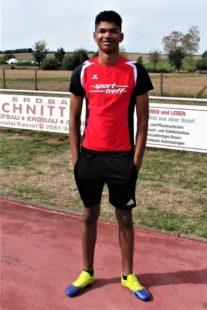 Jermaine Kothe war mit 5,41 Meter der überragende Weitspringer. Foto: nh