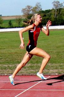 Katharina Wagner lief mit 12,92 Sekunden die schnellste Zeit. Foto: nh