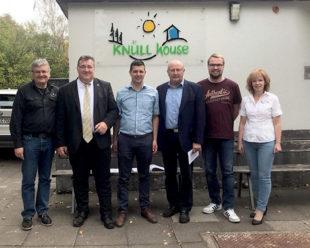 Reinhard Engel, Mark Weinmeister, Matthias Wettlaufer, Jürgen Lepper, Daniel Hoffmann, Heike Engel (v.li.). Foto: nh