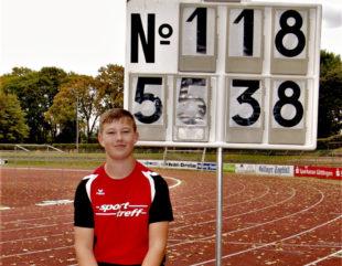 Andrés Diskuswurf erreichte die Bestmarke von 55,38 m. Foto: nh