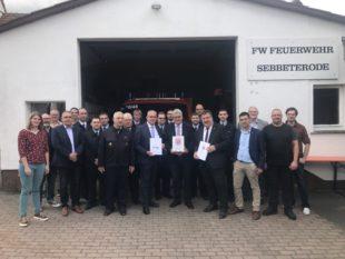 Mit 187.600 Euro fördert das Land den Neubau eines Feuerwehrhauses in Sebbeterode. Foto: nh