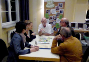 Angeregte Diskussionen mit Wolfgang Nelke, Erster Beigeordneter von Wabern. Foto: nh