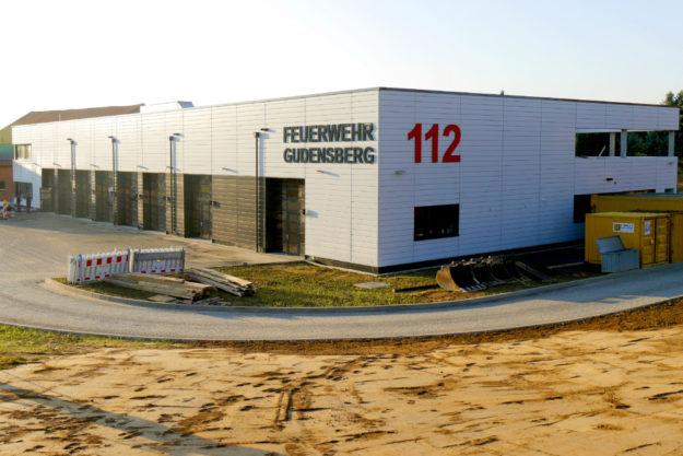 Außenansicht des neuen Gudensberger Feuerwehrhauses. Foto: B. Völske