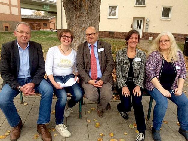 Gruppenfoto der Organisatoren v.l. Claus Steinmetz, Melanie Nöll, Andreas Wiesner, Sonja Pauly, Karin Schmid. Foto: nh