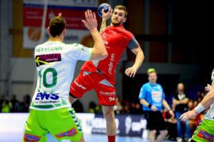 Domagoj Pavlovic im Spiel gegen Göppingen. Foto: Hartung