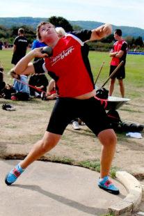 MIt 15,53 Meter verfehlte Luis André beim Werfertag in Sigmaringen seinen Hessenrekord nur um 15 Zentimeter. Foto: nh