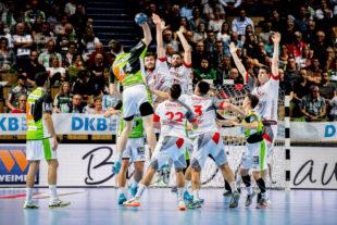 Klarerer Hessenderbysieg, die MT-Melsungen zieht ins Pokal-Viertelfinale ein. Foto: Käsler
