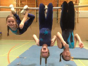 Unübersehbar: Die jungen Turnerinnen haben Spaß am Sport. Foto: nh