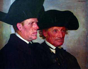 Hanjost Thiel und Schuster Friedrich. Repro: © Malerstübchen