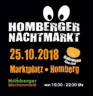 Plakat zum Homberger Nachtmarkt. Repro: nh