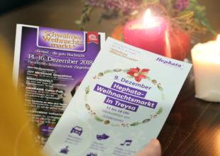 Enge Zusammenarbeit: Die Organisatoren des Schwälmer Weihnachtsmarktes und des Hephata-Weihnachtsmarktes setzen auf Kooperation – unter anderem bei der Werbung für die beiden Schwalmstädter Weihnachtsmärkte. Foto: nh