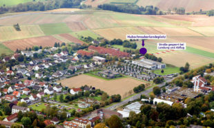 Der bisherige Notfall-Landeplatz hinter der Hephata-Klinik ist nach dem Umbau und der Abnahme durch das Regierungspräsidium Kassel nun als Sonderlandeplatz für Hubschrauber klassifiziert. Foto: Hephata