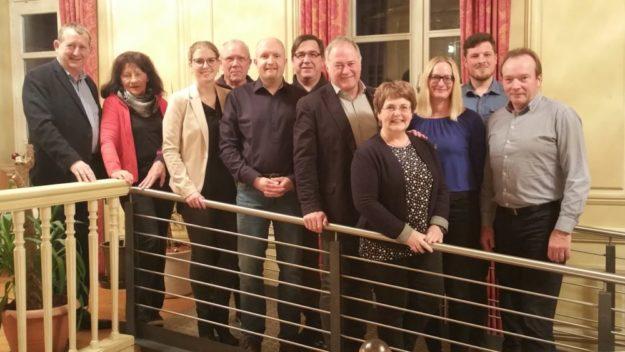 Von links: MdL Günter Rudolph, Siglinde Flemming, Tracy Risch, Ehrenfried Flemming, Jan Rauschenberg, Wolfgang Mander, Michael Höhmann, Sabine Knobel, Nadine Millich, Jari Pellmann und Herbert Vaupel. Foto: nh