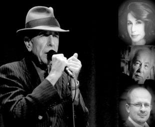 Collage zum Leonard Cohen Liederabend in der Felsberger Synagoge. Repro: nh