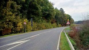 Achtung Wildwechsel! Weil farbige Reflektoren keine Sicherheit bieten, werden nun Blinklichter an die bisherigen Schildern montiert. Foto: Polizei