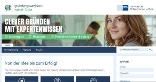 Von der Idee bis zum Erfolg. Die Homepage der Gründungswerkstatt hält zahllose nützliche Tipps bereit. Screenshot: nh