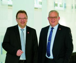 Die Spitze des Schwalm-Eder-Kreises: Landrat Winfried Becker (li.) und sein Vize, Jürgen Kaufmann. Foto: nh