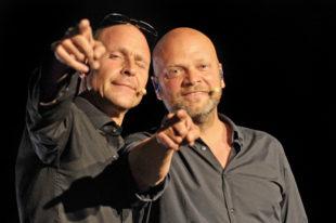 »die feisten« sind Mathias 'C.' Zeh (mit Sonnenbrille) und Rainer Schacht. Foto: Christoph Mischke