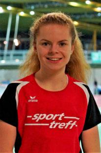 Vivian Groppe konnte es kaum fassen, dass sie die 60 m-Distanz samt Verfolgerinnen in 7,89 Sekunden hinter sich gelassen hat. Foto: nh