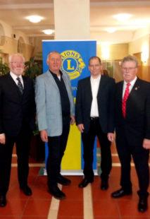 Von rechts: Heinz Marx, Jörg Eidam, Rainer Hartmann, Hans-Dieter Nitsch. Foto: nh