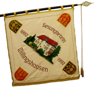 Das Panier des Gesangvereins Willingshausen. Foto: nh